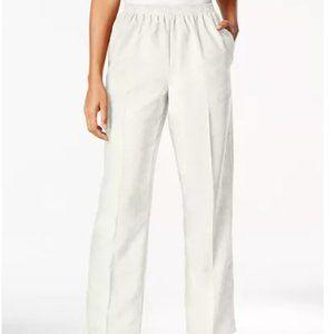 Gray Alfred Dunner Corduroy Pants Petite